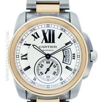 Cartier stainless steel and 18k rose gold Calibre De