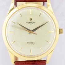 Universal Genève Microtor Yellow gold 34mm White No numerals