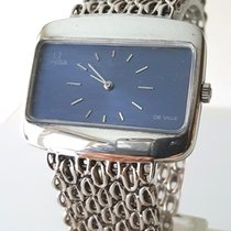 Omega Silver Manual winding Blue No numerals 29mm pre-owned De Ville
