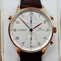 IWC Portugieser Chronograph Roségold 41mm Silber Arabisch Deutschland, München