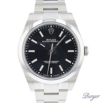 Rolex Oyster Perpetual 39 Steel 39mm Black