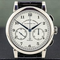 A. Lange & Söhne 1815 White gold 39.5mm Silver Arabic numerals United States of America, Massachusetts, Boston