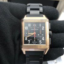 Jaeger-LeCoultre Reverso Squadra Chronograph GMT Or rose 53mm Noir France, paris