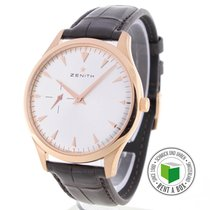 Zenith Red gold Automatic No numerals 40.5mm pre-owned Elite Ultra Thin