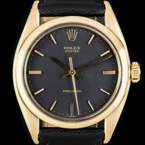 Rolex Oyster Precision Yellow gold 34mm Black