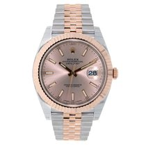 Rolex Datejust 41mm Steel & 18K Rose Gold Sundust Dial...