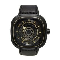 Sevenfriday P2-2 Stal 47,6mm Czarny Bez cyfr