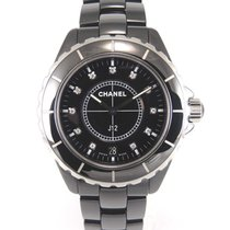 Chanel J 12 Black ceramic diamonds indexes