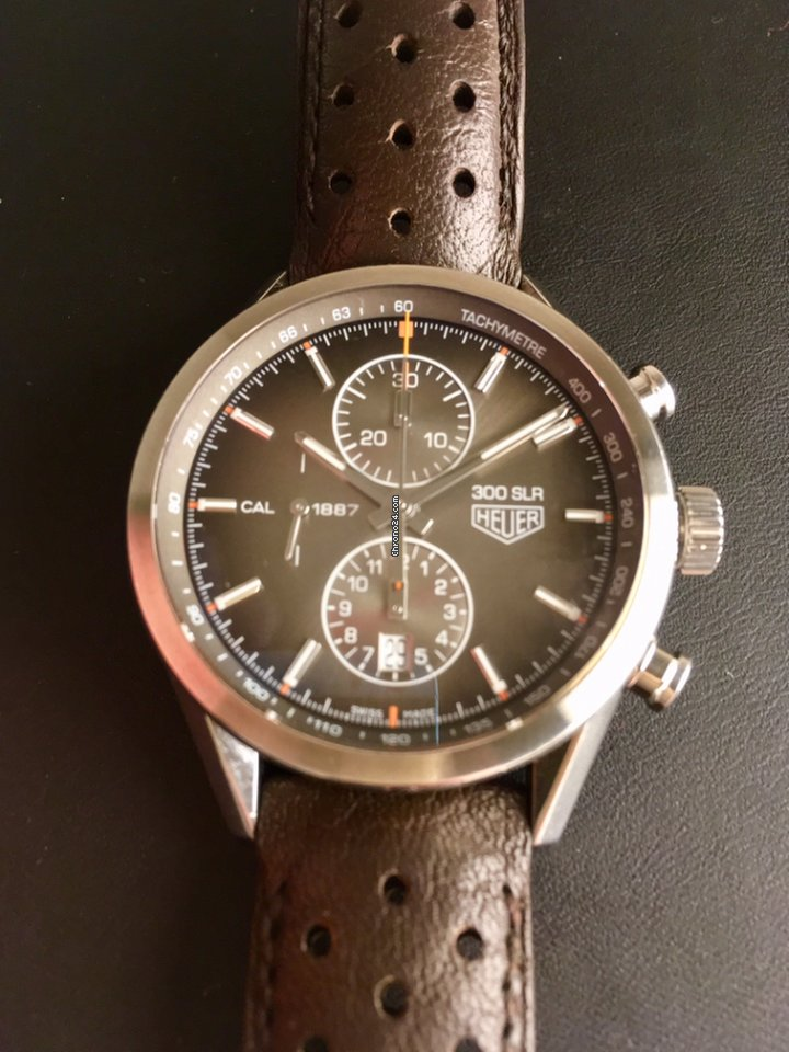 tag heuer carrera calibre 1887 limited edition mercedes 300 slr for 2 738 for sale from a. Black Bedroom Furniture Sets. Home Design Ideas