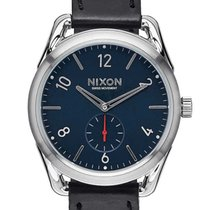 Nixon A459-008 C39 Leather Black Red 39mm 10ATM