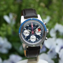 Wakmann Jacques Monnat Chronograph Three Register Blue valjoux...