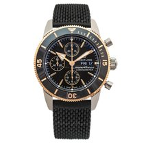 Breitling Superocean Héritage II Chronographe Gold/Steel 44mm Black
