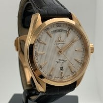 Omega Red gold Automatic White No numerals 41mm pre-owned Seamaster Aqua Terra