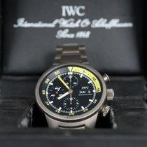 IWC Aquatimer Chronograph Titânio 42mm Preto Árabes
