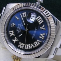 Rolex Steel Automatic Blue Roman numerals 41mm pre-owned Datejust II