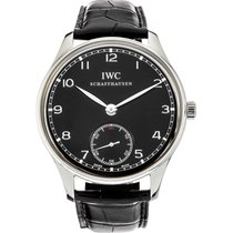 IWC Portuguese Hand-Wound Steel 44mm Black Arabic numerals United States of America, New York, New York