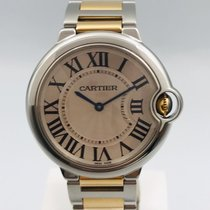Cartier Ballon Bleu 36mm Gold/Steel 36mm Silver Roman numerals