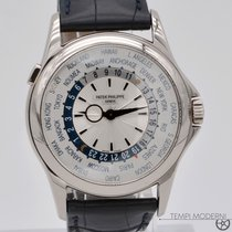 Patek Philippe World Time White gold 39.5mm Silver No numerals
