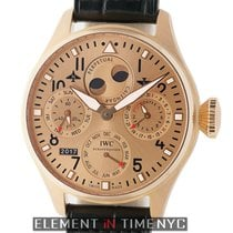 IWC Rose gold Automatic Champagne 46mm pre-owned Big Pilot
