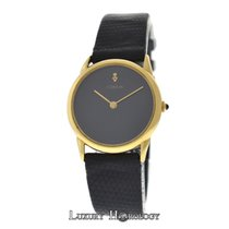 Corum Authentic Ladies Black Dial Solid 18K Yellow Gold