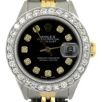 Rolex Datejust Ladies' 26mm Black Dial Gold And Stainless...