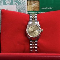 Rolex Ladies 69173 Datejust 18k Yellow Gold & Steel Box & Papers