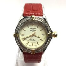 Breitling 1884 Callisto Steel Unisex Watch W/ Diamond Bezel...