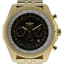 Breitling For Bentley Motors 18kt Yellow Gold With Black Dial...