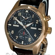 IWC Red gold Automatic Grey 46mm pre-owned Pilot Spitfire Perpetual Calendar Digital Date-Month