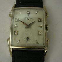 Elgin Oro blanco Cuerda manual Blanco Sin cifras 22mm usados