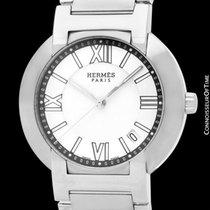 Hermès Nomade Stahl 37mm Silber