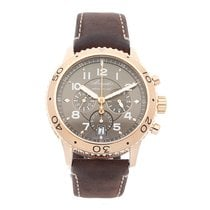 Breguet Rose gold Automatic Brown Arabic numerals 42.5mm pre-owned Type XX - XXI - XXII