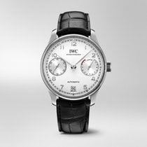 IWC Portuguese Automatic Steel Silver Arabic numerals United States of America, Iowa, Des Moines