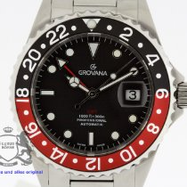 Grovana GMT Diver Steel 42mm Black No numerals