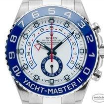 Rolex Yacht-Master II Staal 44mm Wit Arabisch