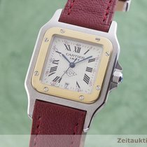 Cartier 1566 Gold/Steel 1997 Santos Galbée 29mm pre-owned