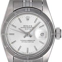 Rolex Automatisch Zilver Geen cijfers 26mm tweedehands Oyster Perpetual Lady Date