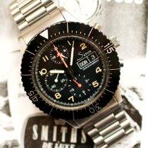 Sinn 156 gebraucht 43mm Schwarz Chronograph Datum Stahl