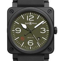 Bell & Ross BR 03-92 Ceramic BR0392-MIL-CE New Ceramic 42mm Automatic