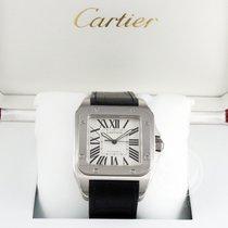까르띠에 세라믹 자동 흰색 로마숫자 51.1mm 신규 Santos (submodel)