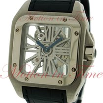 Cartier Палладий Механические Cеребро Римские 46.5mm подержанные Santos 100