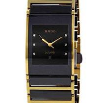 Rado Integral Black Ceramic & Gold PVD Coated Steel Mens Watch...