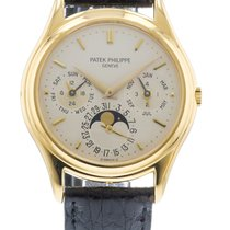 Patek Philippe Perpetual Calendar 3940J Watch with Leather...