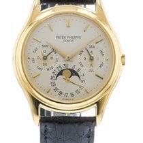 파텍필립 Perpetual Calendar 3940J Watch with Leather Bracelet and...
