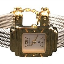 Charriol Stainless Steel And Gold Plated Watch With Chain