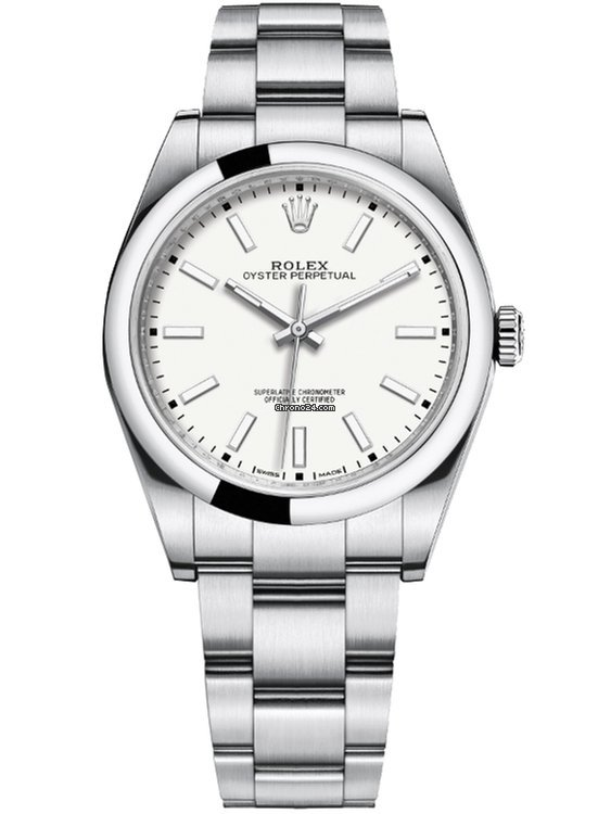 a85f1a17ba2 Rolex 39 White Dial Baselworld 2018 Oyster Perpetual 39 White Dial 114300-0004.