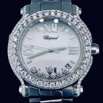 Chopard Happy Sport Diamonds, 36MM, Steel, Aftermarket Diamonds