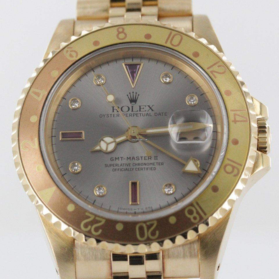 5a354a10503 Rolex GMT-Master II Sultan Serti LC 100 #202 sælges for 159.839 kr af en  Trusted Seller på Chrono24