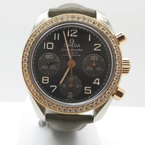 Omega Rose gold Automatic Grey Arabic numerals 38mm pre-owned Speedmaster Ladies Chronograph