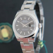 Rolex Datejust Lady 28 Dark Grey Dial NEW 279160